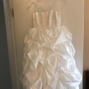 Mary's Bridal Dresses - Flower girl/ First Communion Dress with Veil